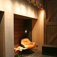 Renovation of reception area with authentic materials 4