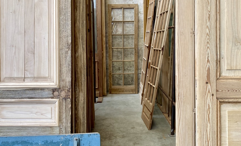 Old oak or pine doors and hutches as pieces of art in the frames 2