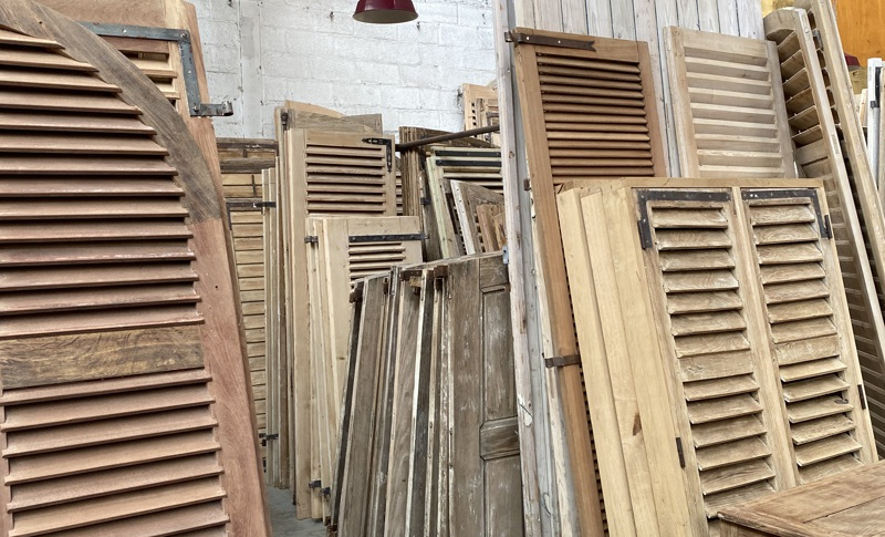 Old oak or pine doors and hutches as pieces of art in the frames 3